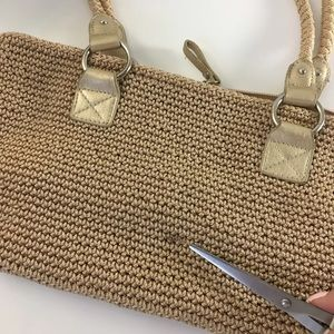 The Sak Bags - Lina by The Sak Beige Knit Purse Braided Straps